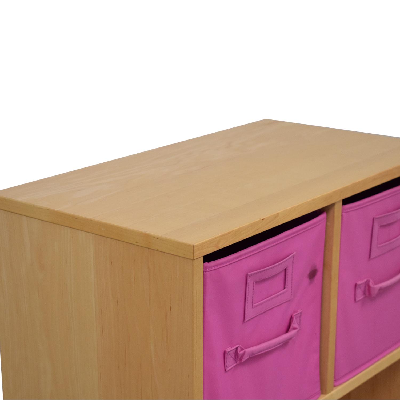 Williams Sonoma Cube Storage Units with Storage Bins sale