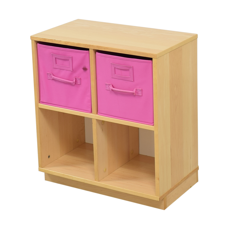 Williams Sonoma Williams Sonoma Cube Storage Units with Storage Bins light brown