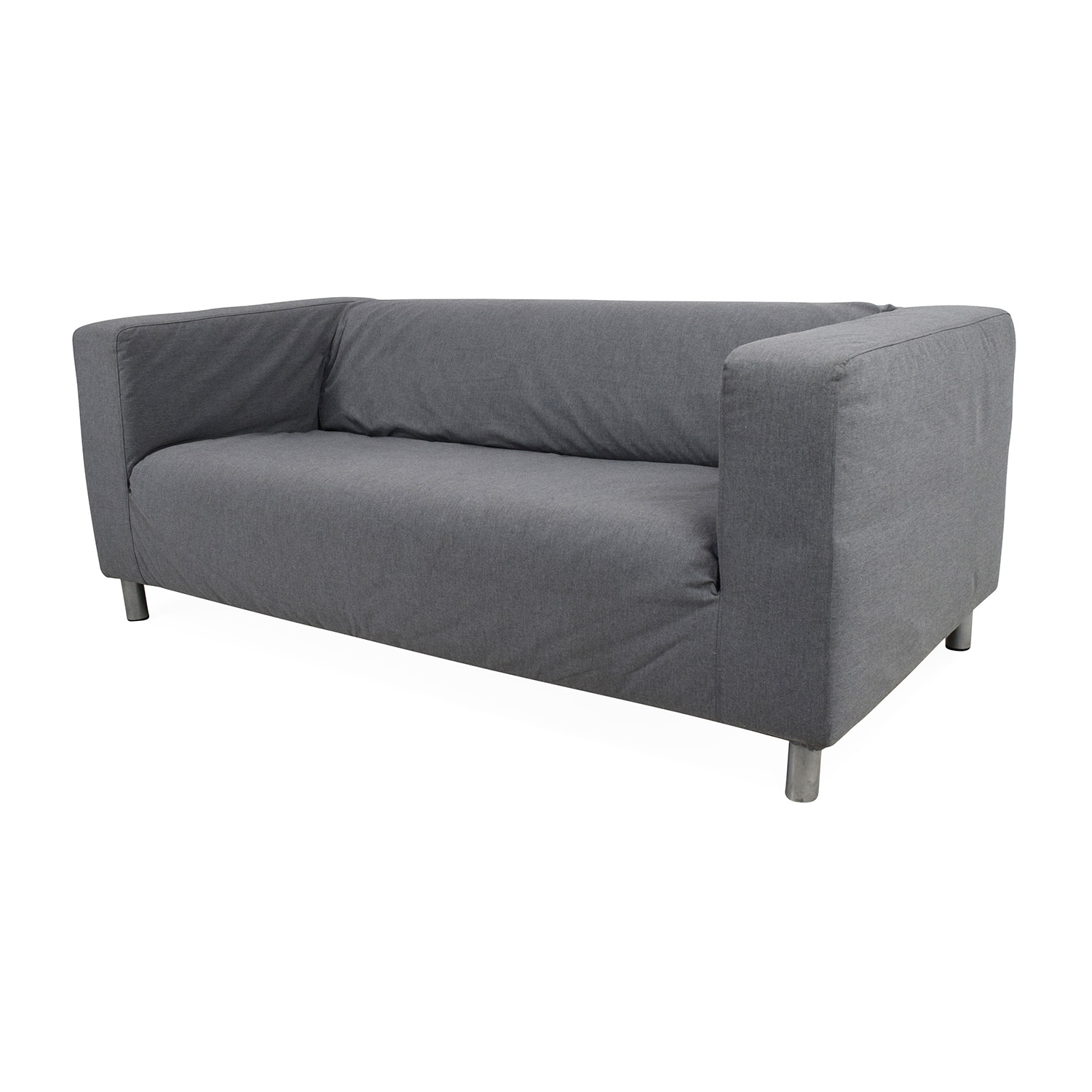 50 off ikea ikea klippan gray loveseat sofas. Black Bedroom Furniture Sets. Home Design Ideas