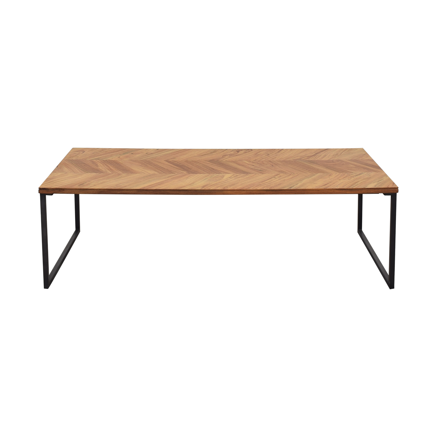 CB2 CB2 Chevron Coffee Table brown