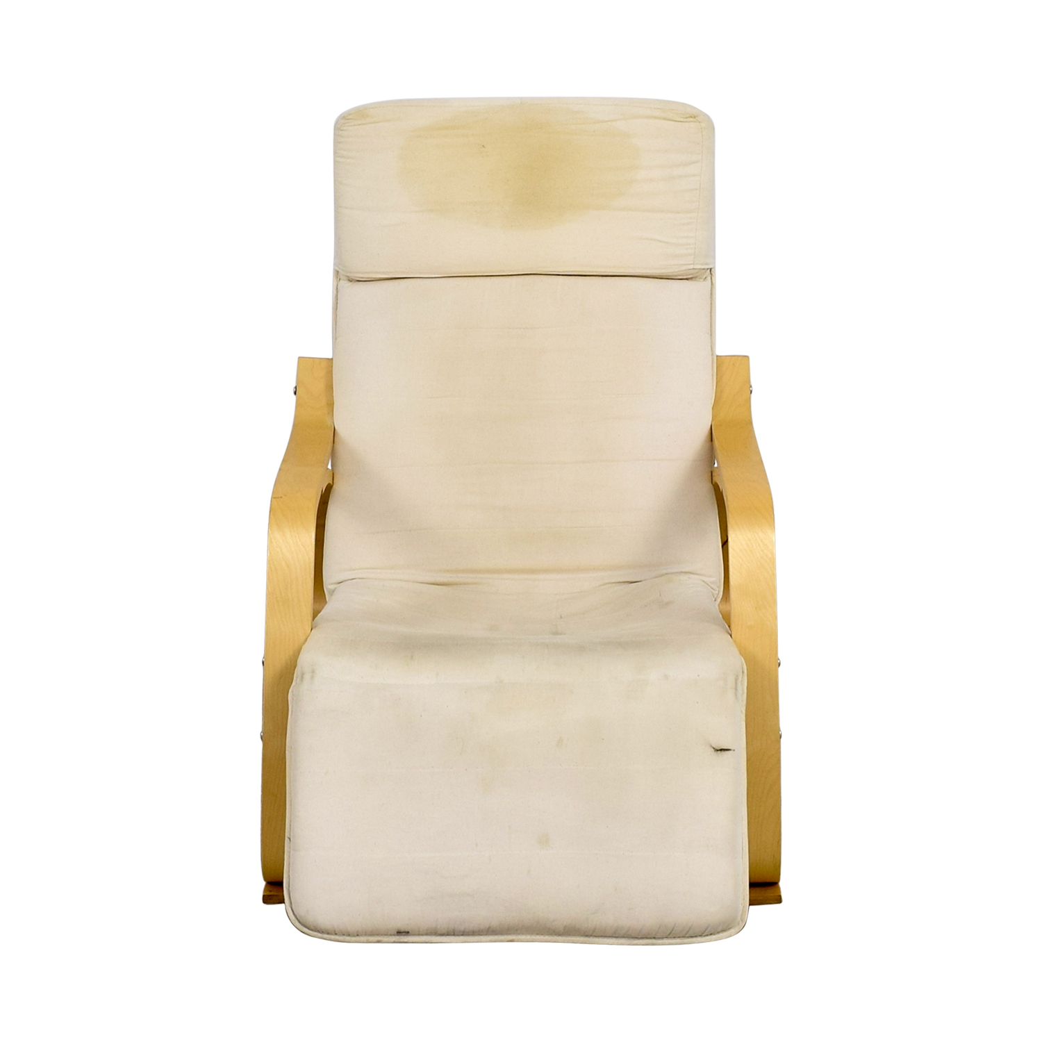 White Rocking Chair with Recliner for sale