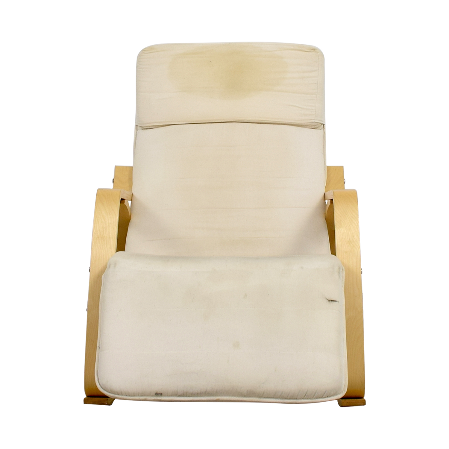 White Rocking Chair with Recliner