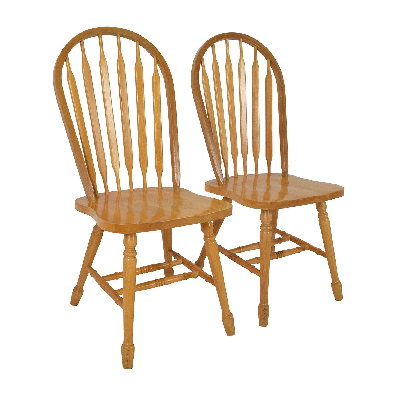 Good ... Shop Coaster Furniture Coaster Furniture Windsor Wood Dining Chairs  Online ...