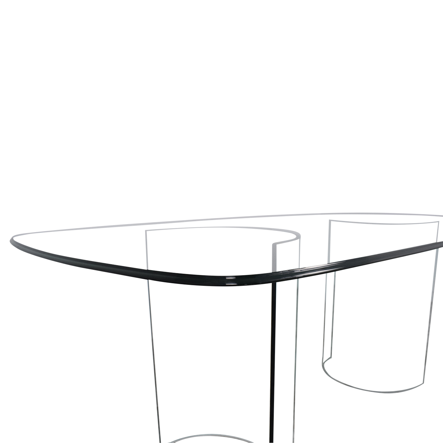 Raymour & Flanigan Raymour & Flanigan Beveled Tempered Glass Dining Table used