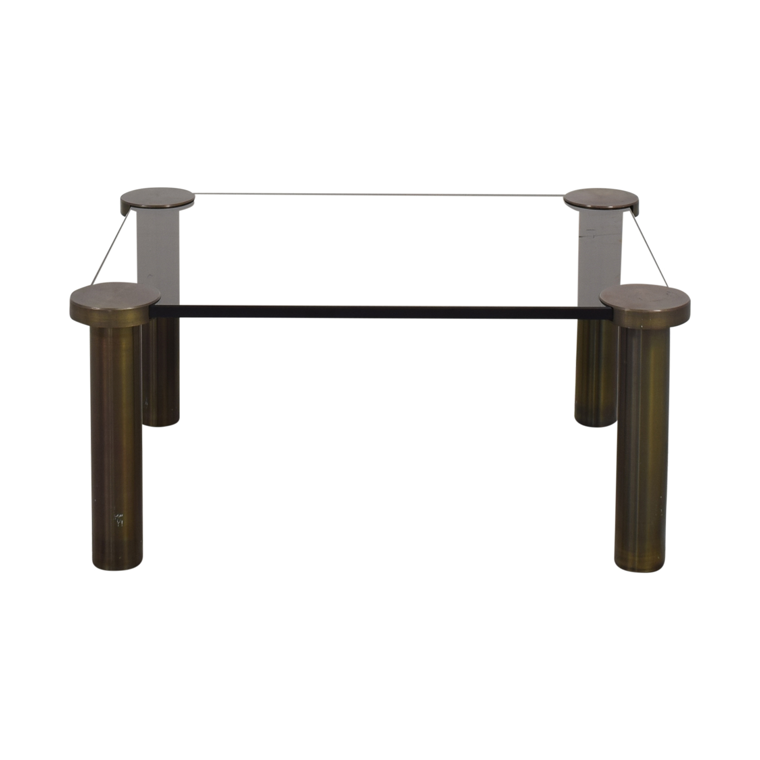 Modern Coffee Table dark grey & bronze