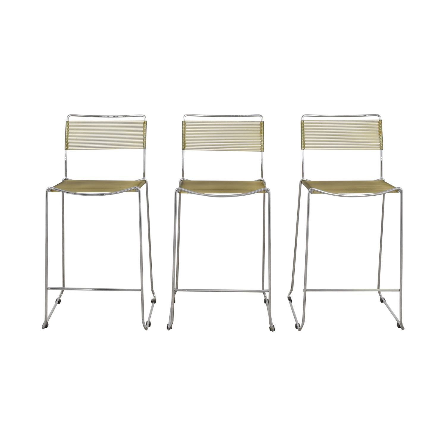 Chrome Frame Bar Stools / Stools