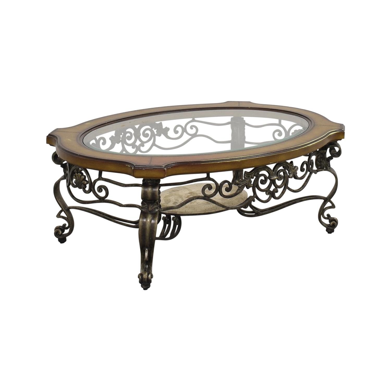 buy Thomasville Thomasville Style Oval Coffee Table online