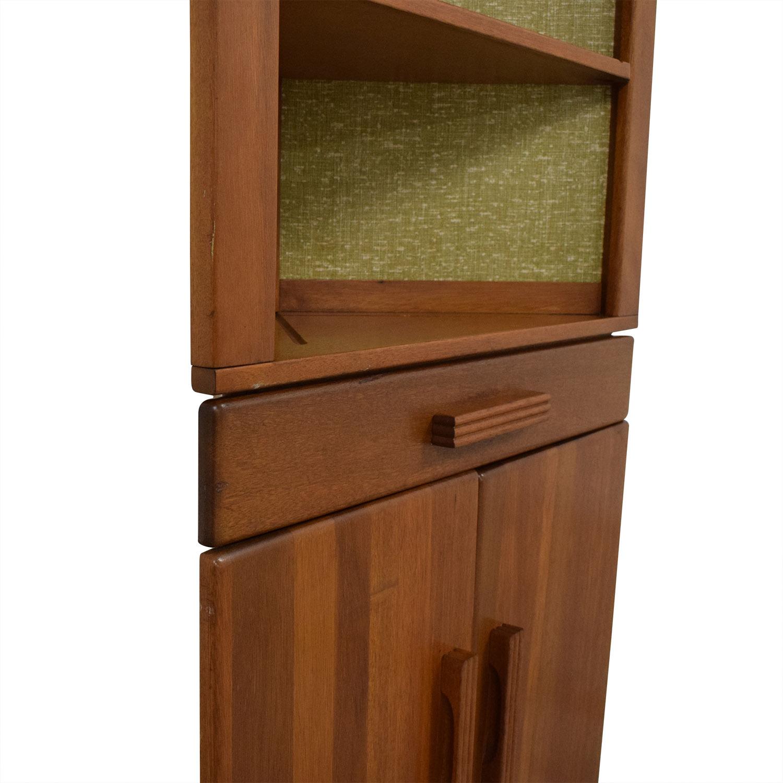 shop Midcentury Modern Corner Hutch  Storage