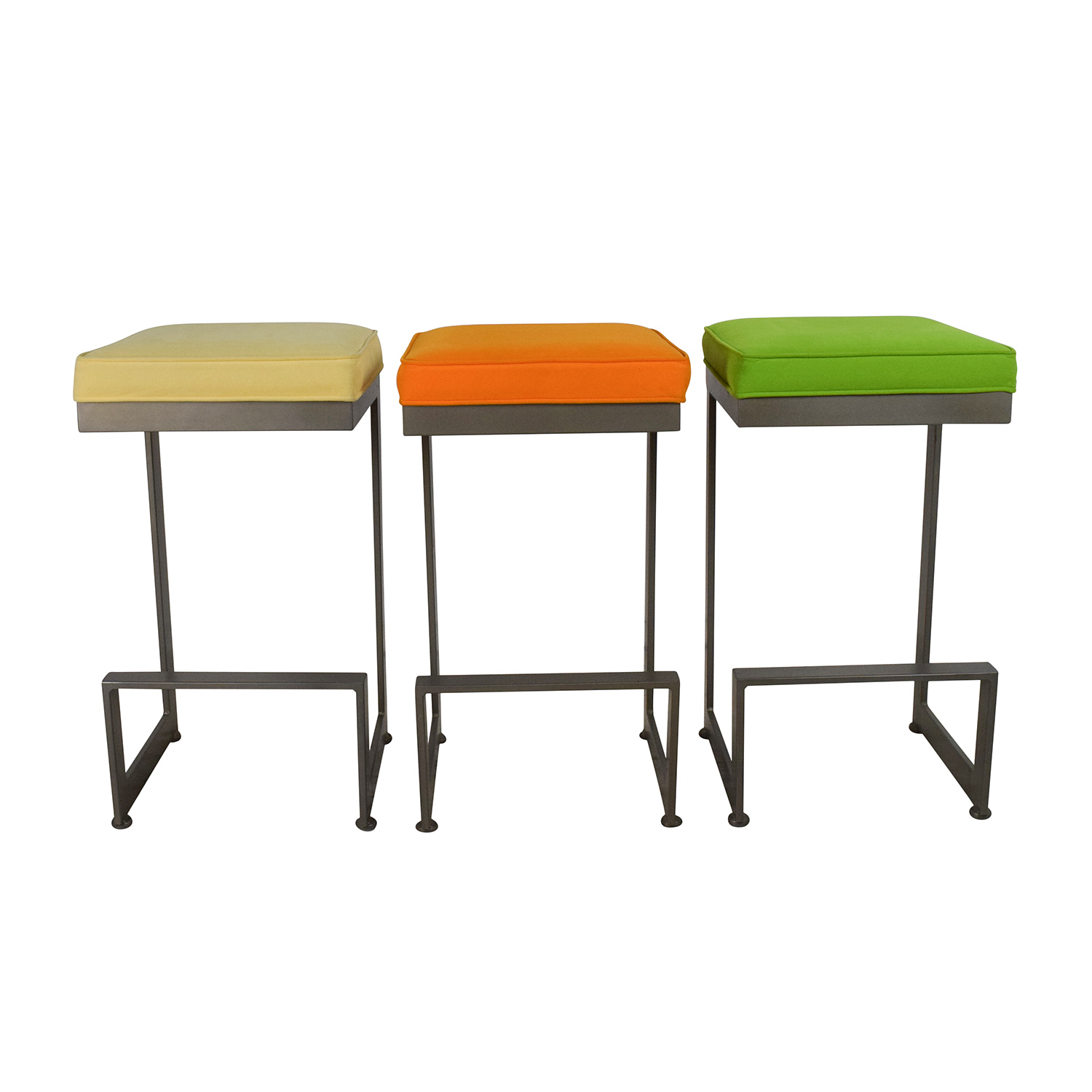 off  white quilted bar stool chairs  chairs - modern bar stools  stools
