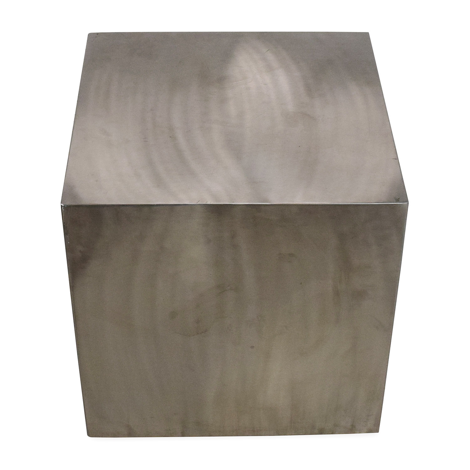 Zuo Modern Contemporary Stainless Steel End Table second hand