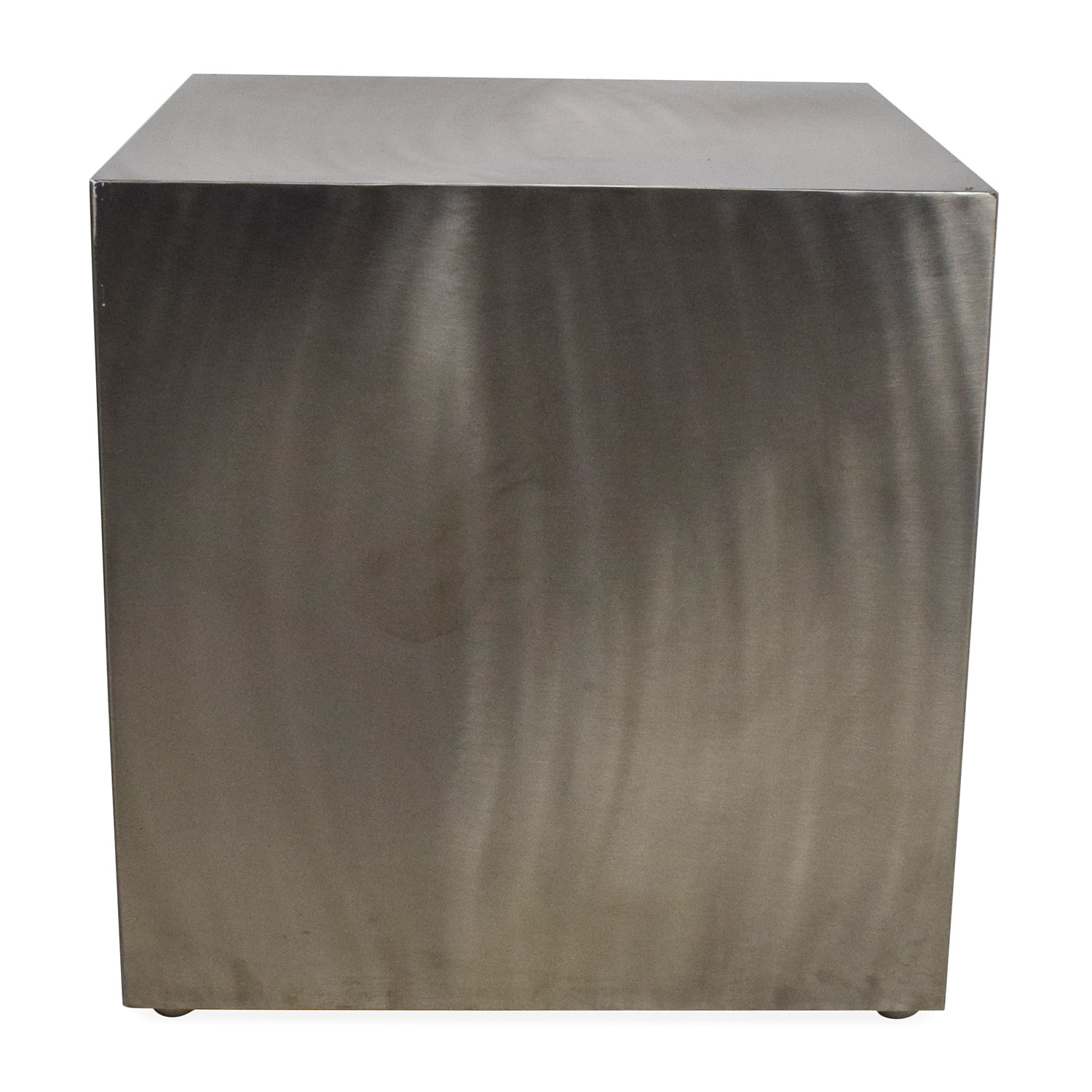 Zuo Modern Contemporary Stainless Steel End Table used