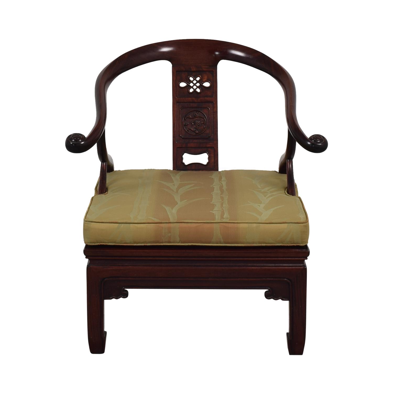 Vintage Asian Accent Chair nj