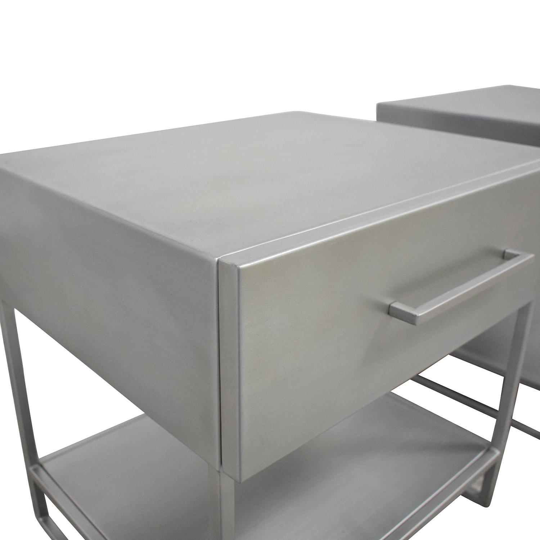 25 Off Cb2 Cb2 Proof Metal Nightstands Tables