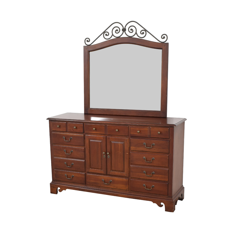 Hooker Furniture Hooker Furniture Dresser with Mirror Storage