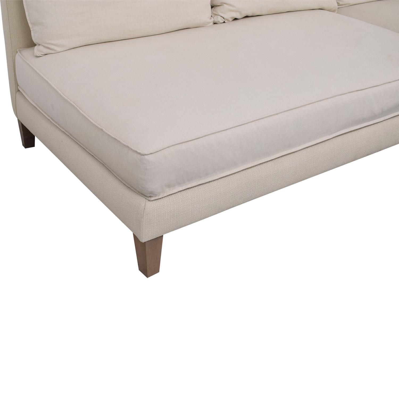 Crate & Barrel L Shaped Modular Sofa / Sectionals