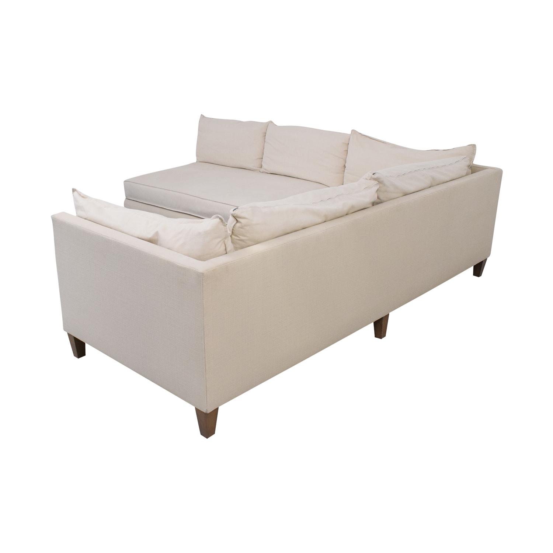 shop Crate & Barrel L Shaped Modular Sofa Crate & Barrel Sectionals