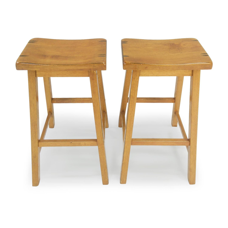 Incredible 56 Off Coaster Fine Furniture Coaster Saddle Seat Wood Stools Chairs Uwap Interior Chair Design Uwaporg