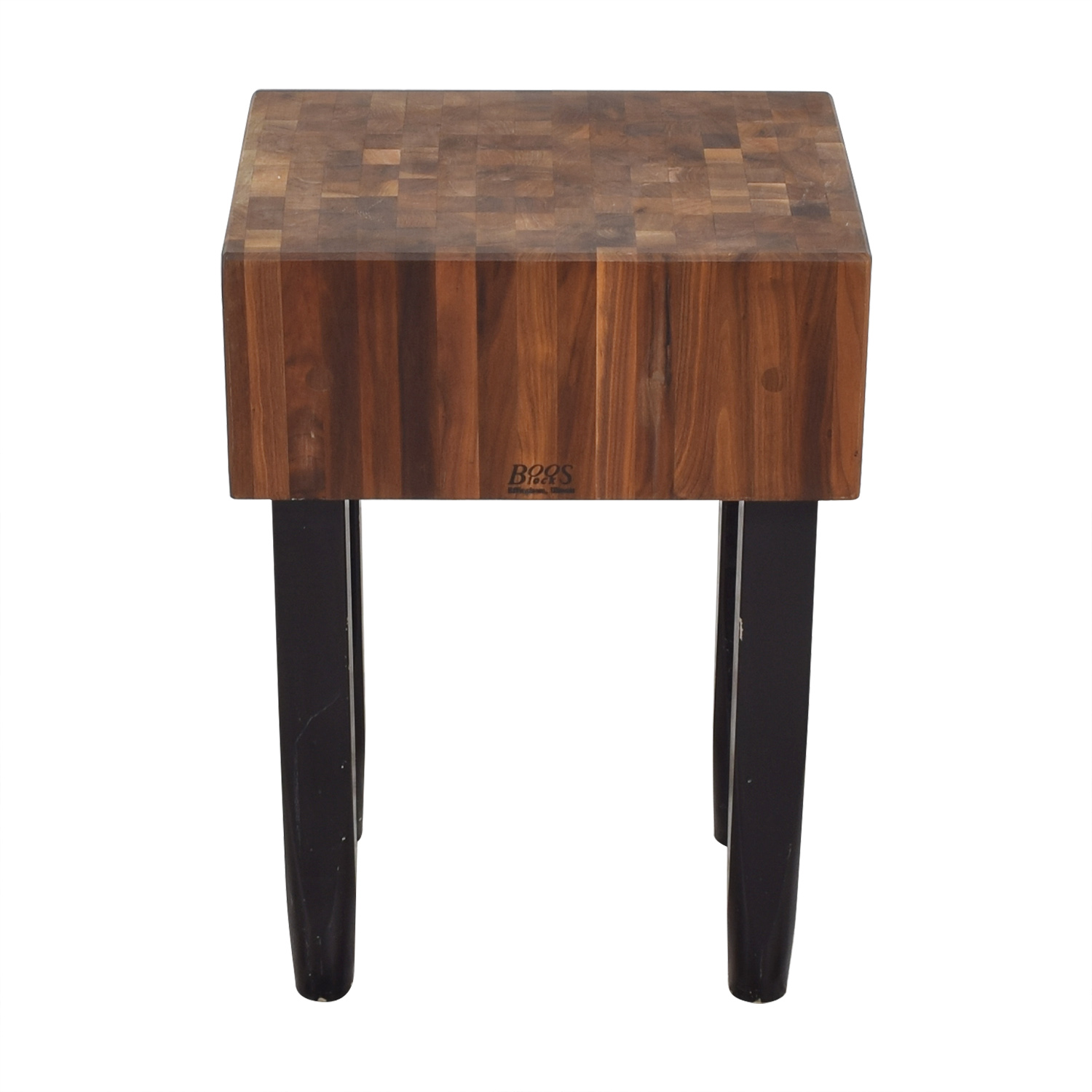 John Boos John Boos Pro Chef Butcher Block dark brown and black