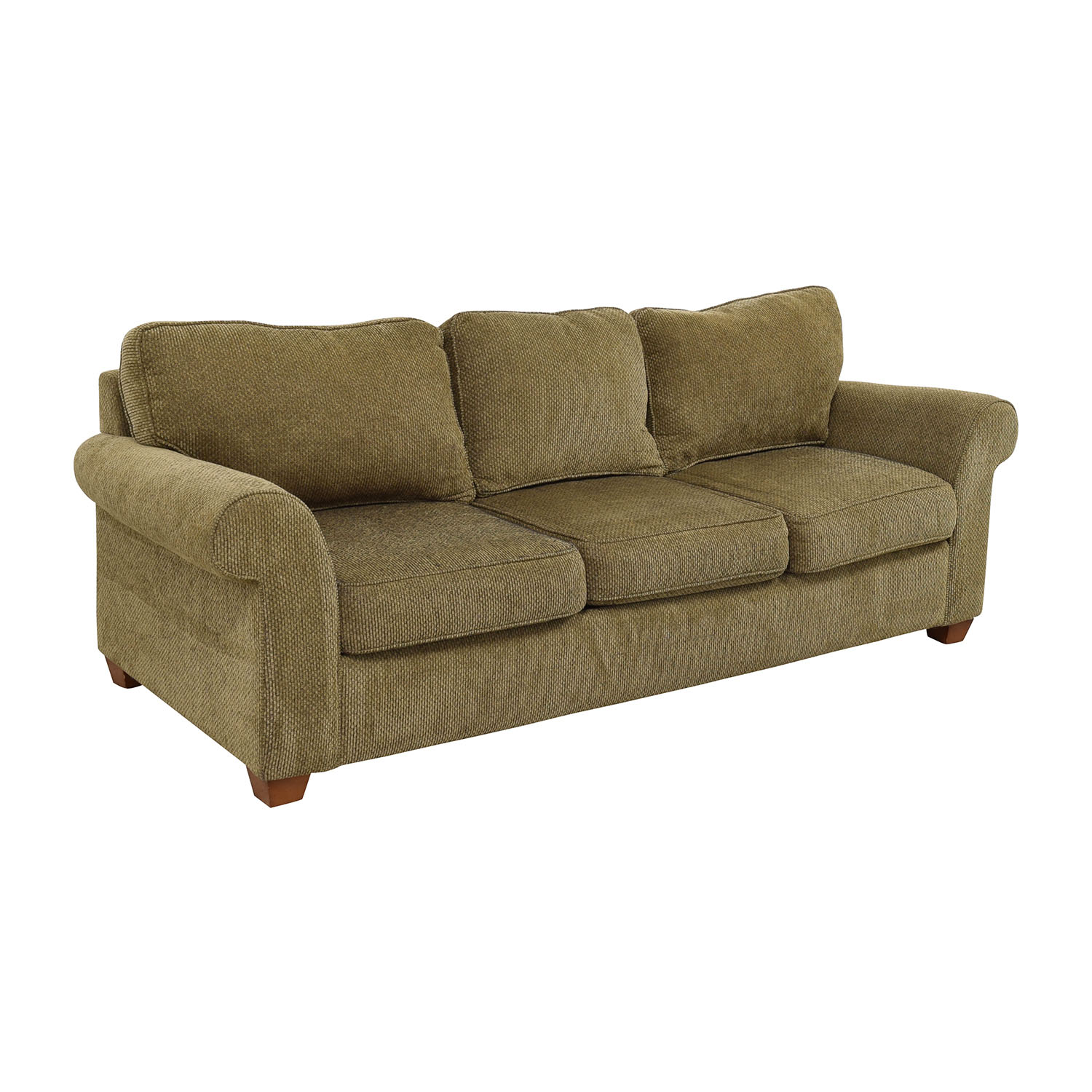 Tweed fabric sofa mid century modern sofa by selig with for Leather and tweed sofa