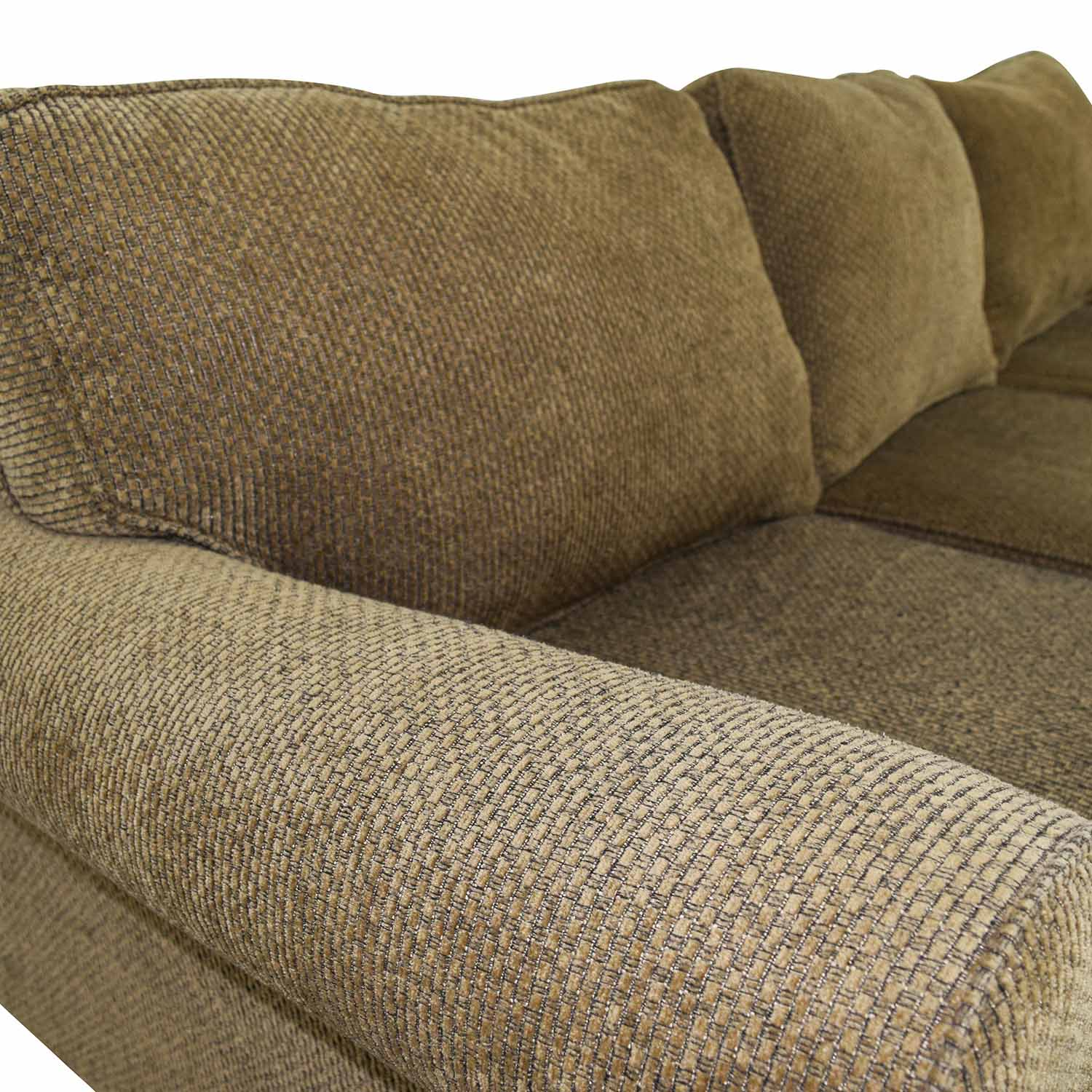 Beige Tweed Fabric Sofa