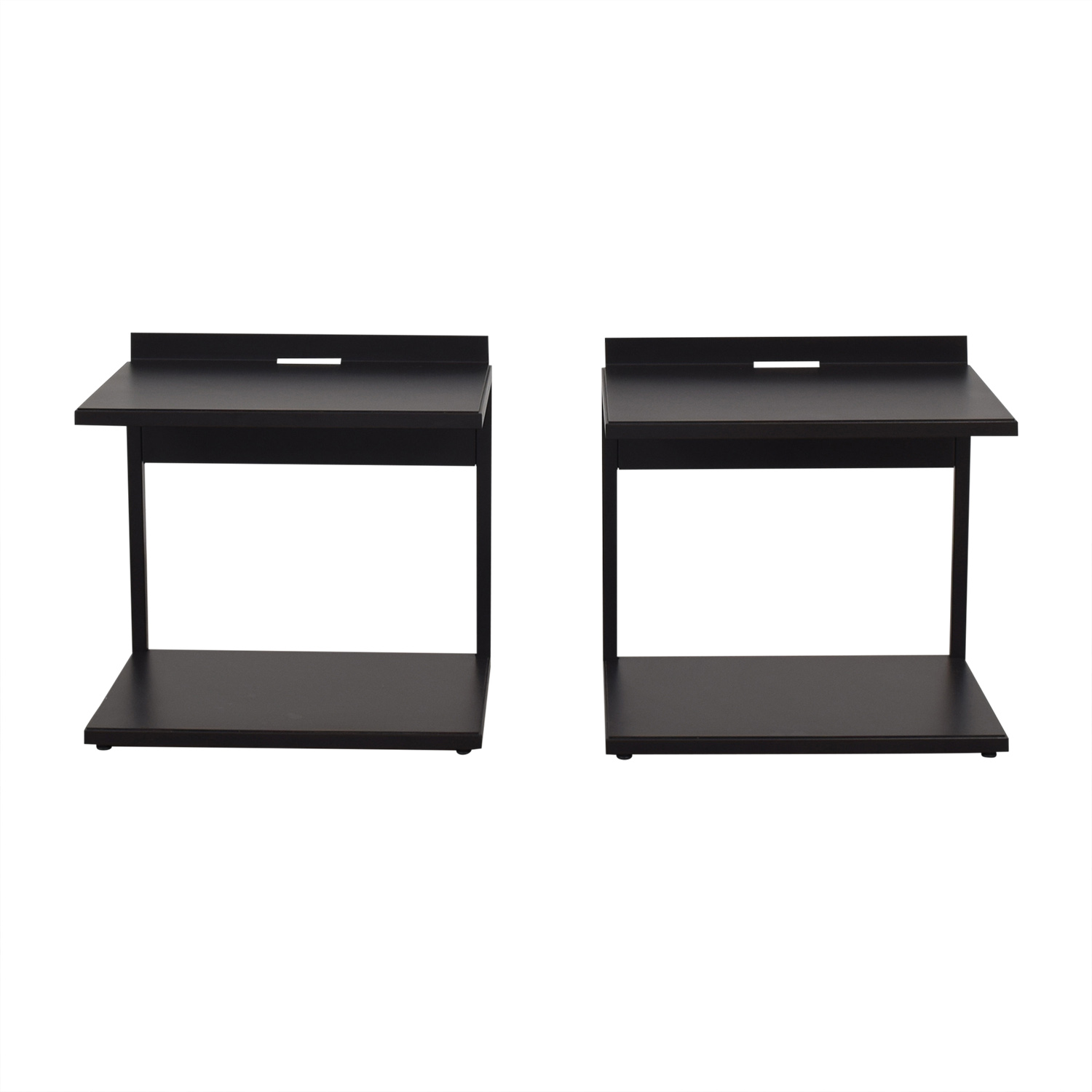 shop Crate & Barrel Bowery Nightstands Crate & Barrel End Tables