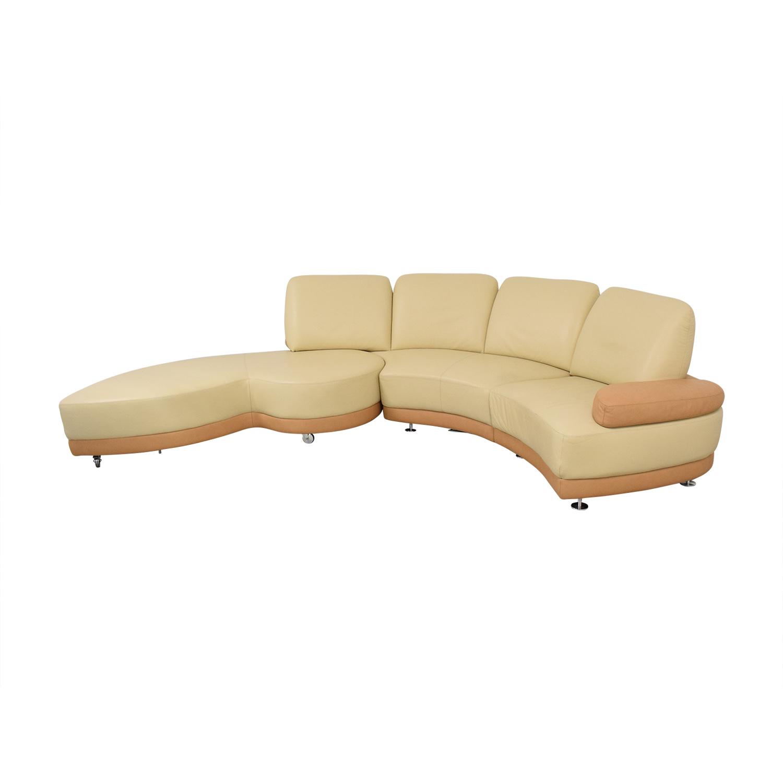 W. Schillig Crescent Shaped Sectional Sofa W. Schillig