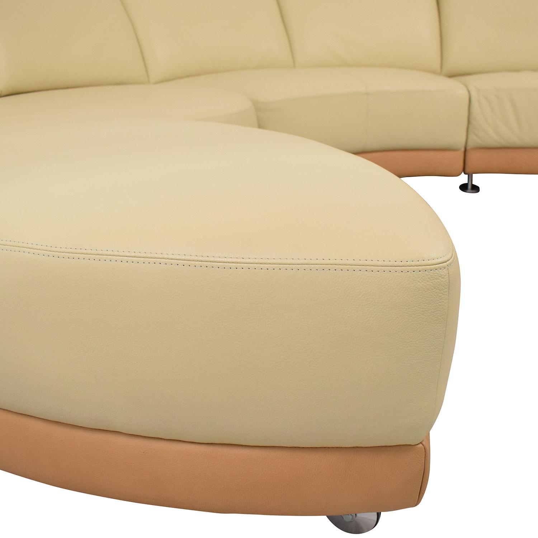 buy W. Schillig Crescent Shaped Sectional Sofa W. Schillig Sofas