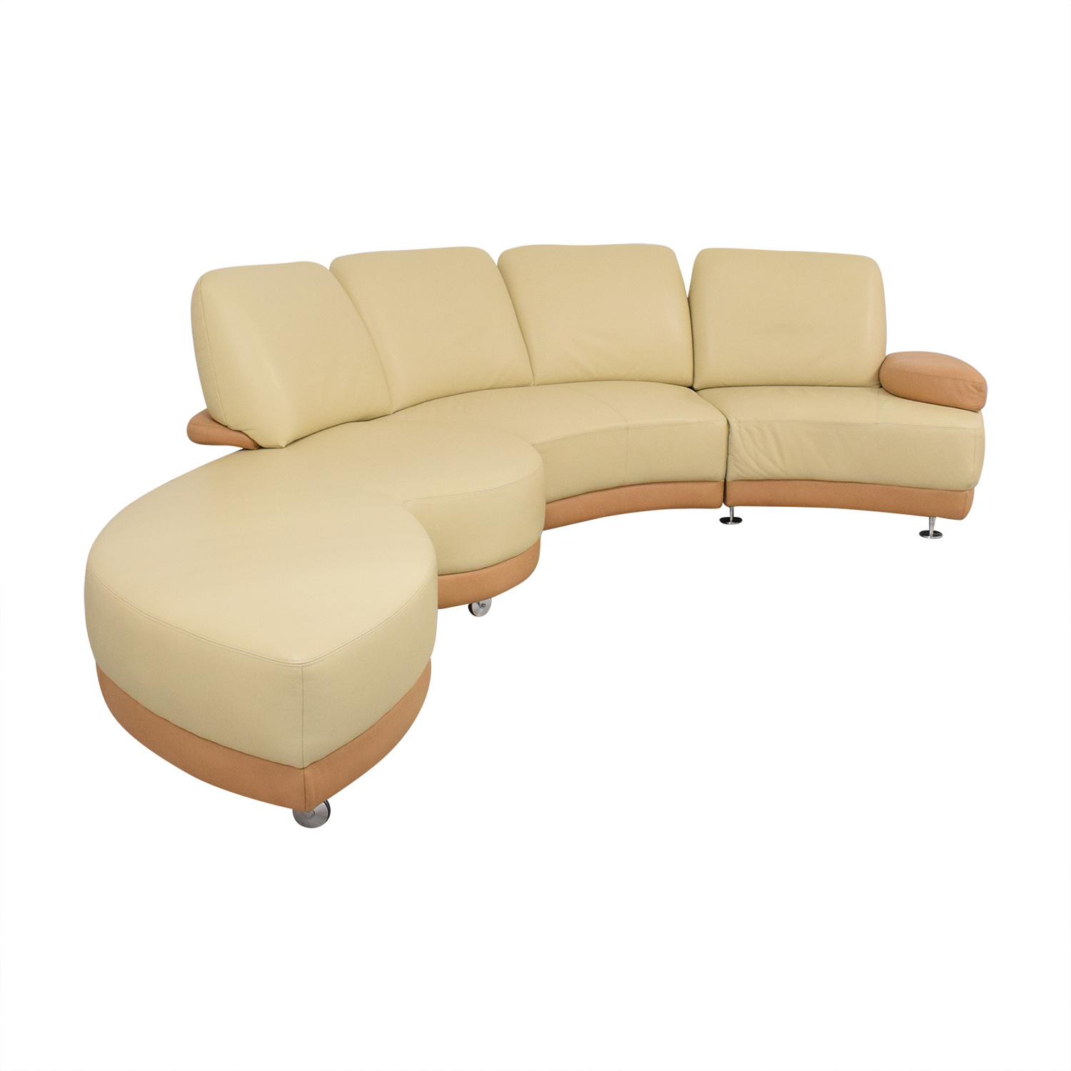 W. Schillig W. Schillig Crescent Shaped Sectional Sofa Sectionals