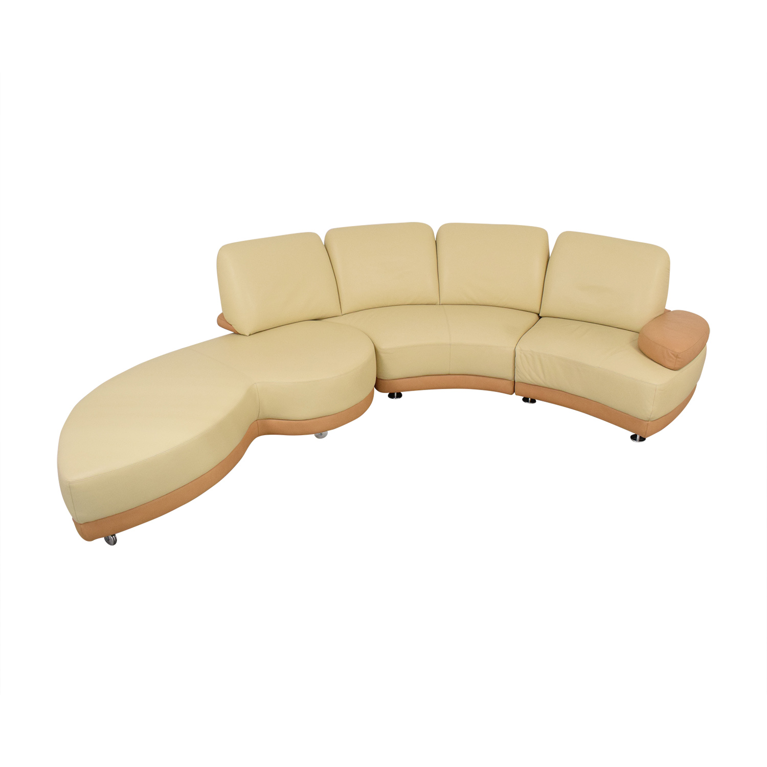 W. Schillig W. Schillig Crescent Shaped Sectional Sofa for sale