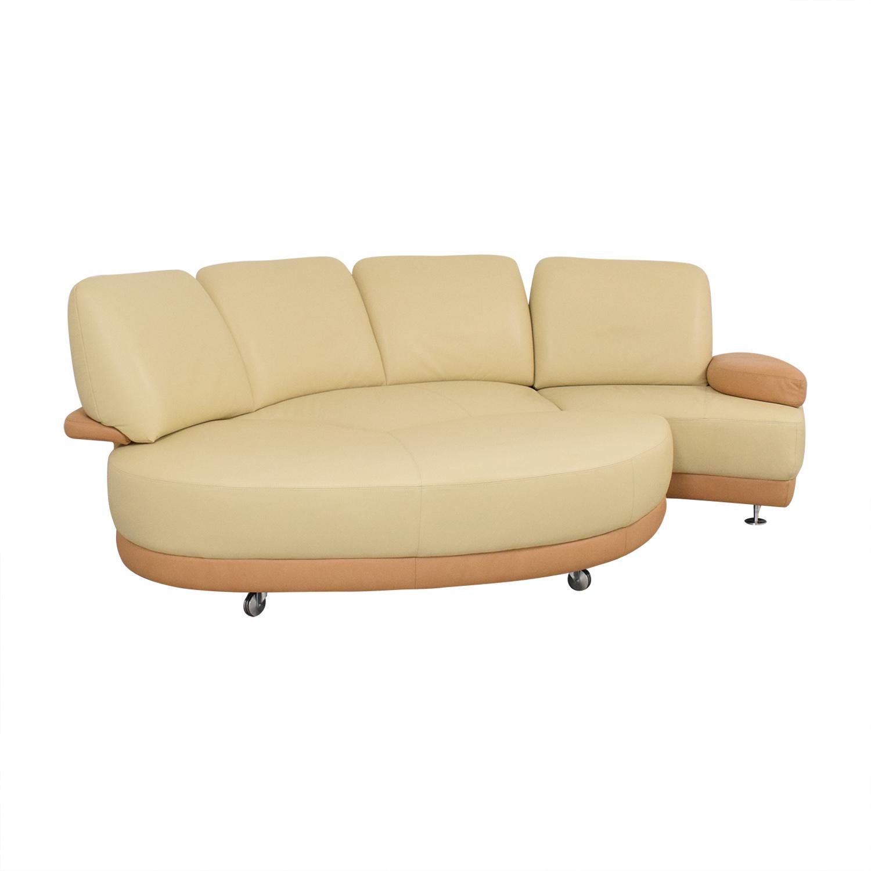 W. Schillig W. Schillig Crescent Shaped Sectional Sofa ma