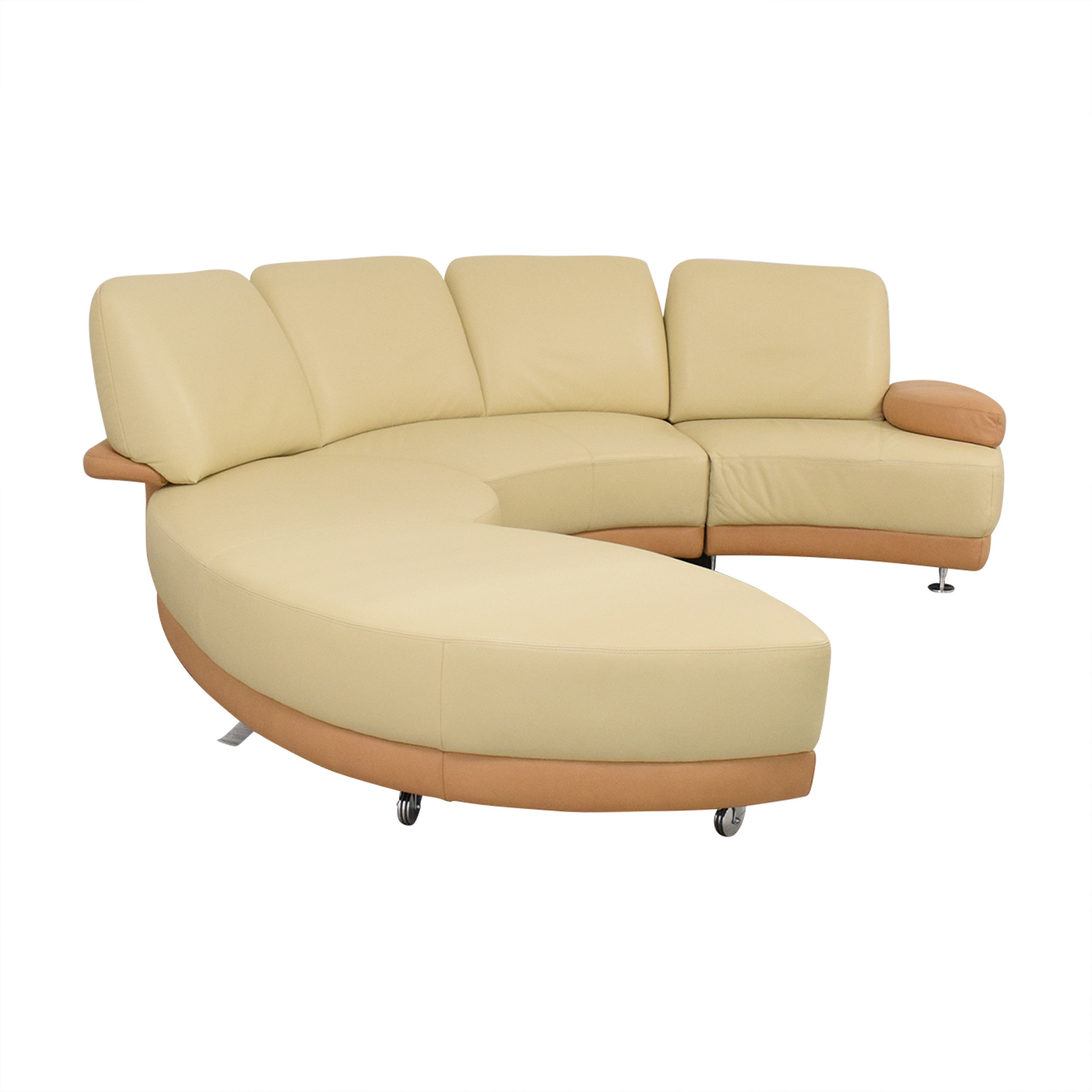 W. Schillig Crescent Shaped Sectional Sofa / Sectionals
