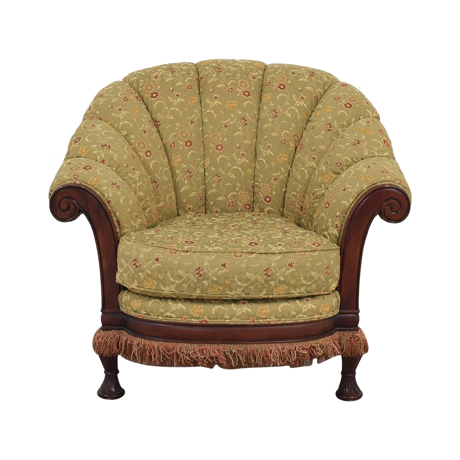 Vanguard Furniture Lauren Brooks Vanguard Furniture Scallop Back Rolled Arm Accent Chair ct
