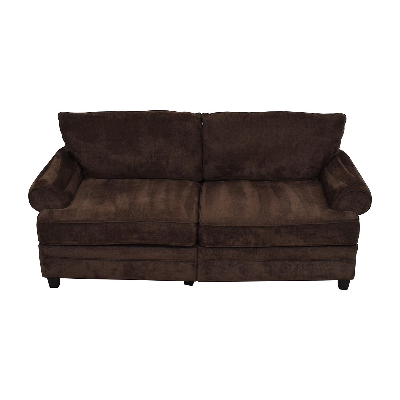 buy Bobs Furniture Bob Furniture Kendall II Brown Sofa with Storage online