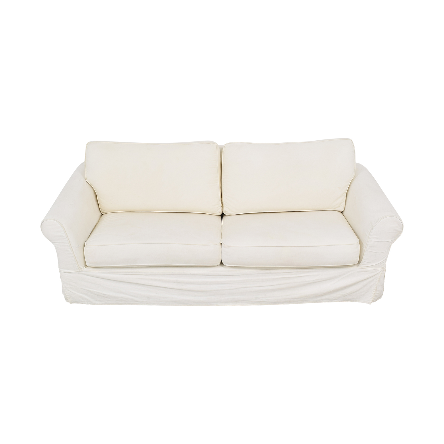 Pottery Barn Comfort Roll Arm Slipcovered Queen Sleeper Sofa / Sofa Beds