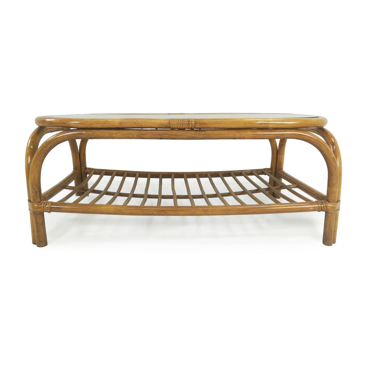 Glass Top Bamboo Coffee Table sale