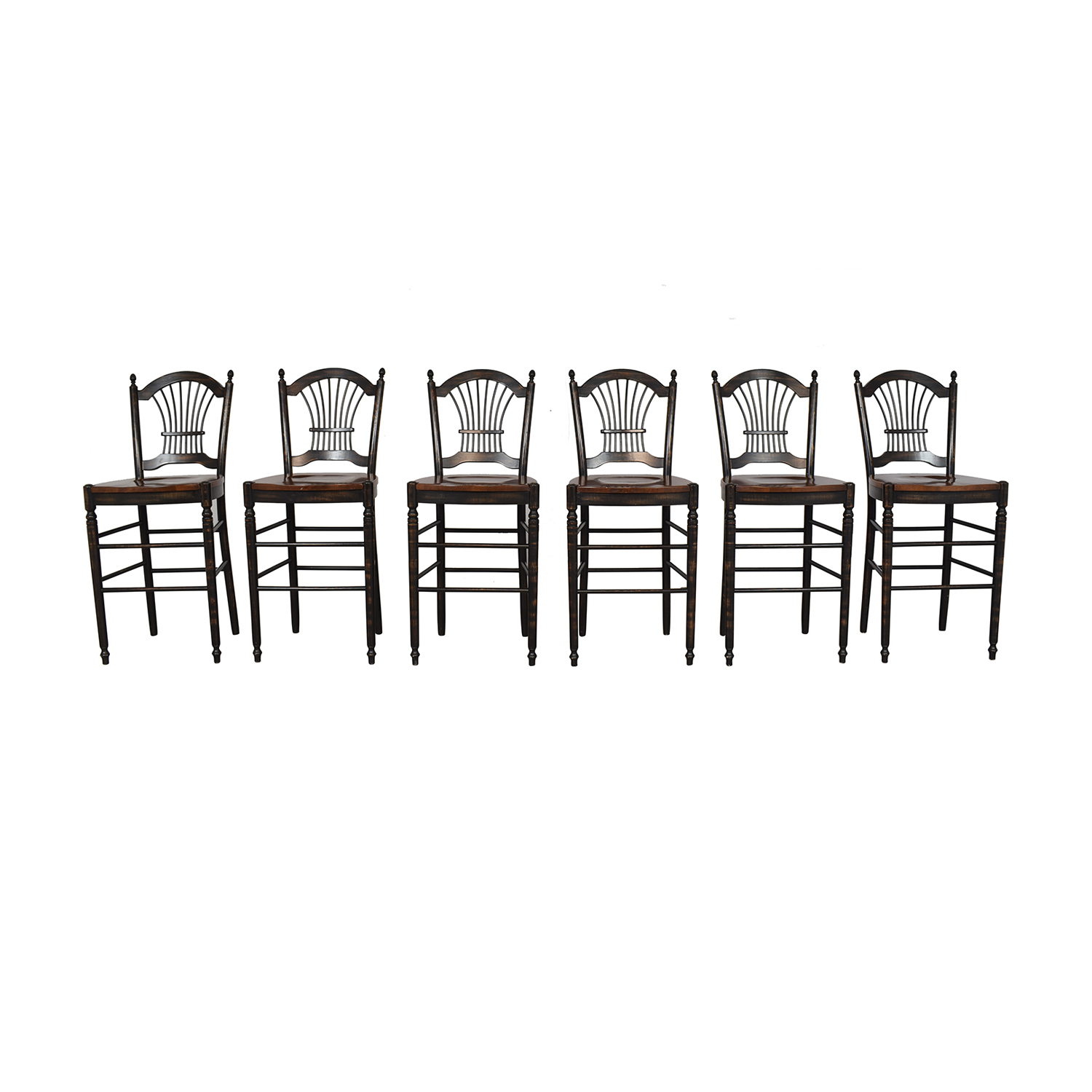 Vintage Sheaf Back Pub Chairs for sale