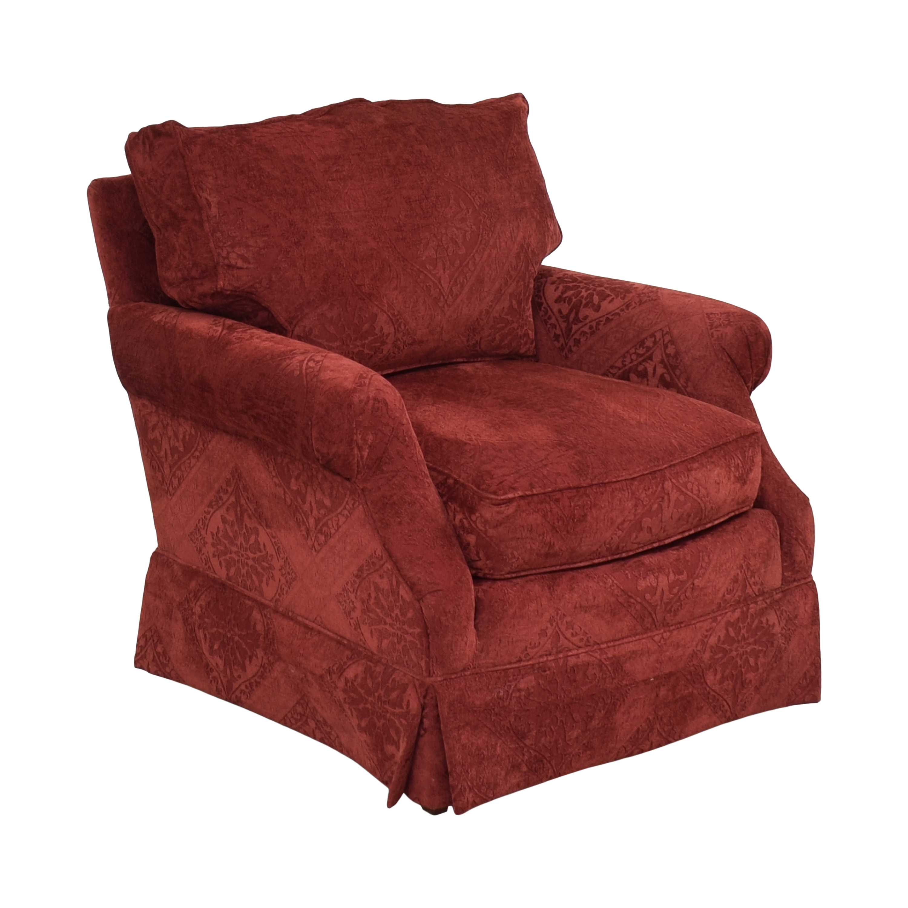 Hickory Manor Hickory Manor Skirted Penelope Accent Chair Chairs