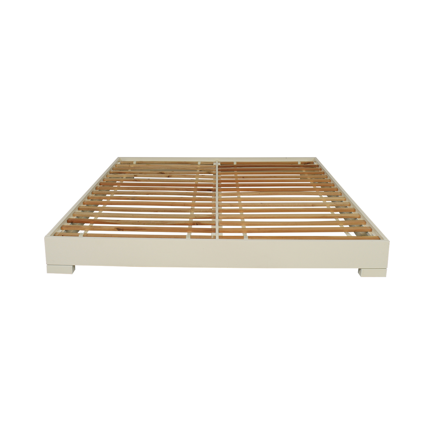 West Elm Chunky Wood King Bed Frame / Beds