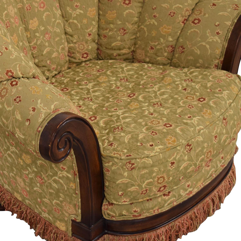 Vanguard Furniture Lauren Brooks Vanguard Furniture Scallop Back Rolled Arm Accent Chair on sale