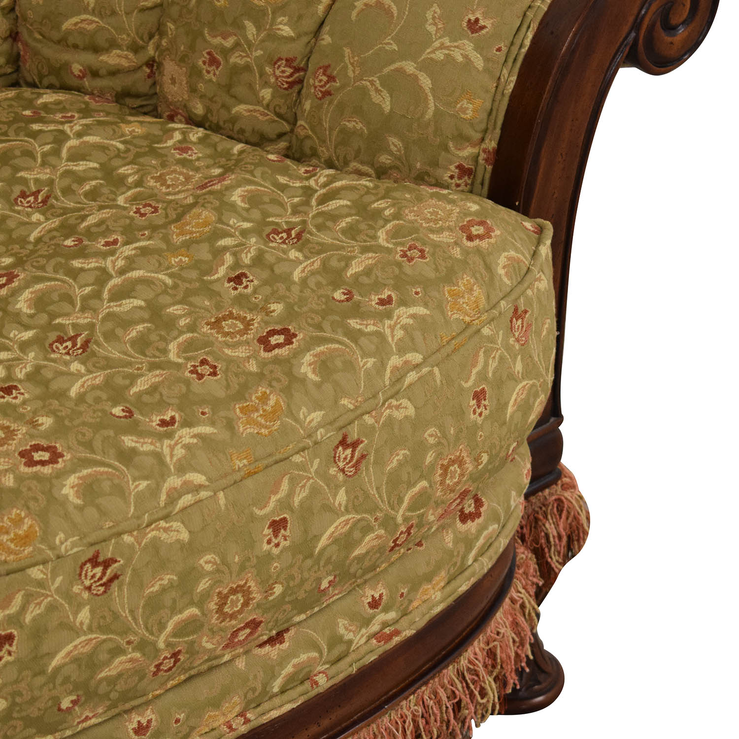 Vanguard Furniture Lauren Brooks Vanguard Furniture Scallop Back Rolled Arm Accent Chair Accent Chairs