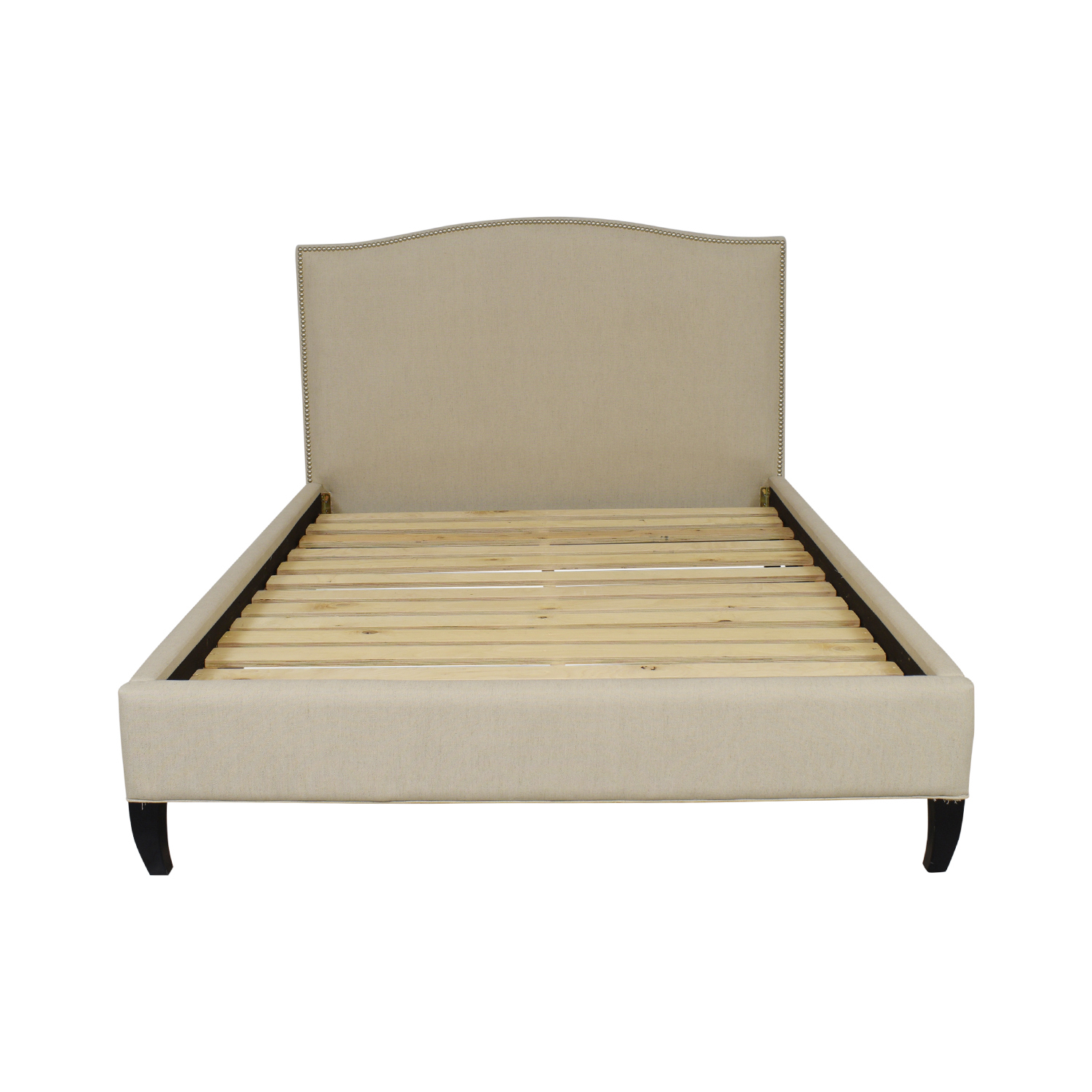 Crate & Barrel Crate & Barrel Colette Queen Upholstered Bed for sale