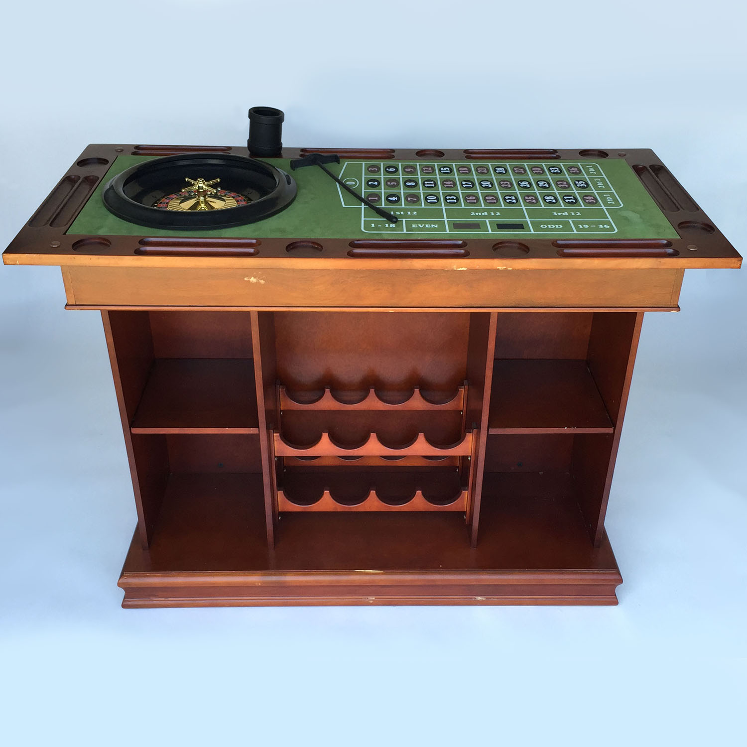 ... Raymour And Flanigan Coaster Game Table Bar Unit Accent Tables ...