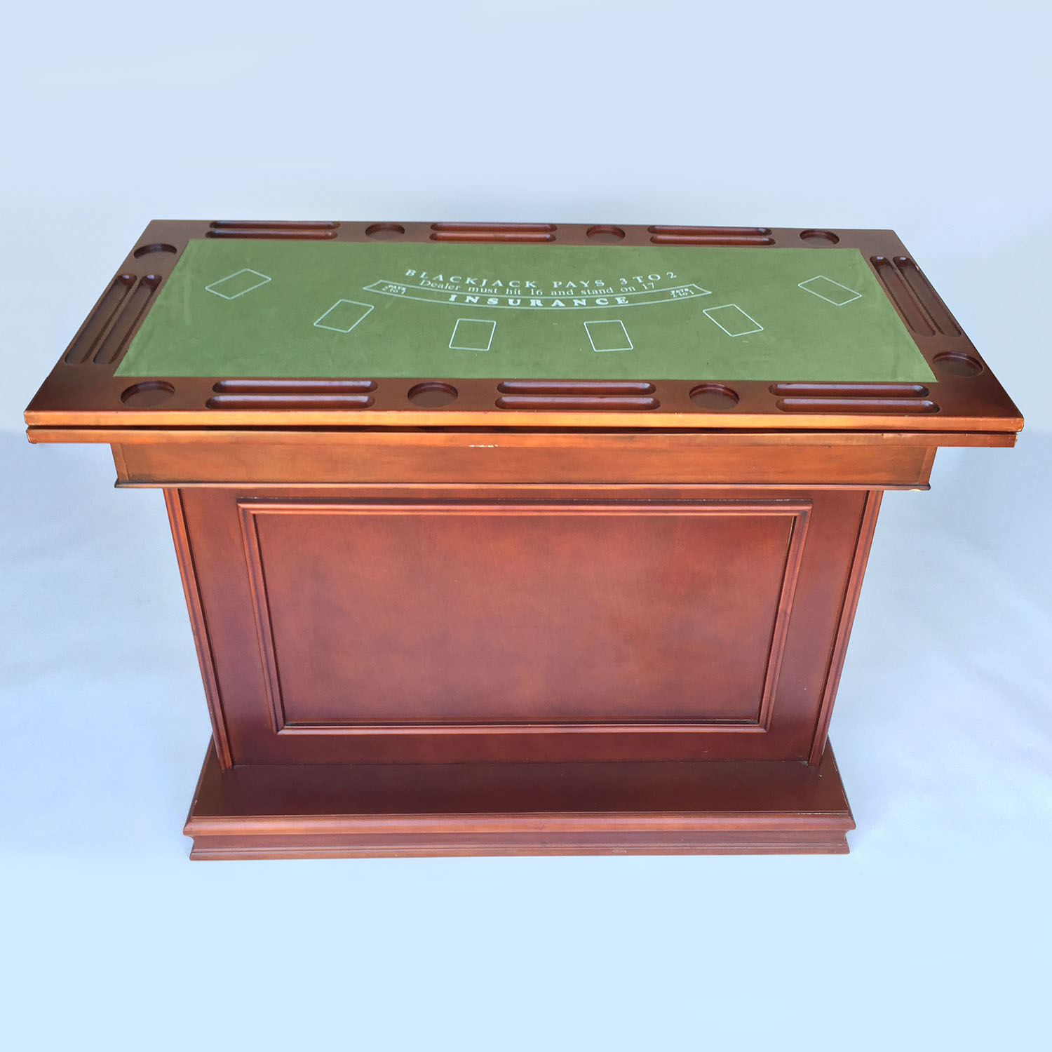 Raymour and Flanigan Coaster Game Table Bar Unit Accent Tables