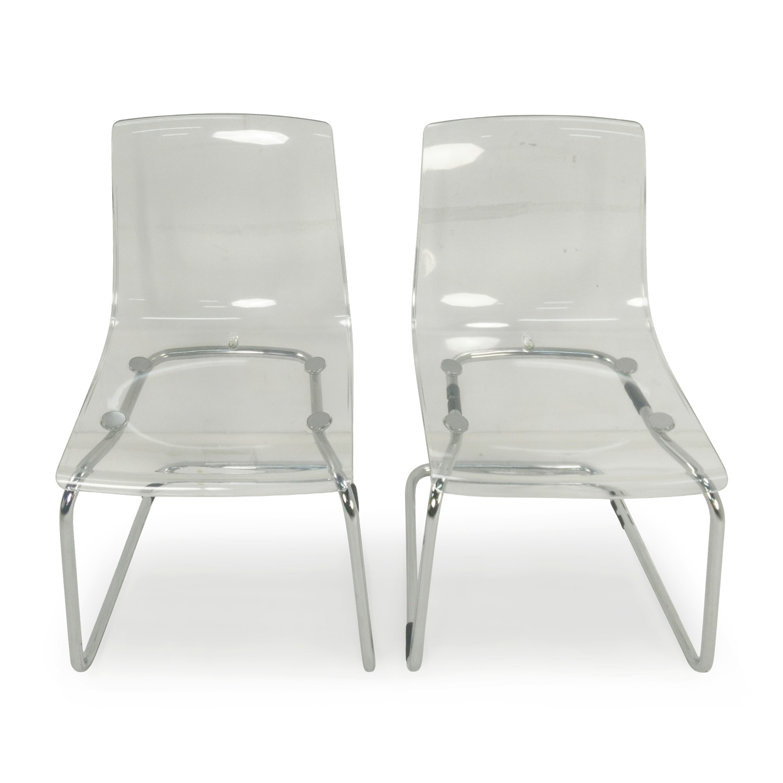 IKEA Tobias Transparent Chairs dimensions
