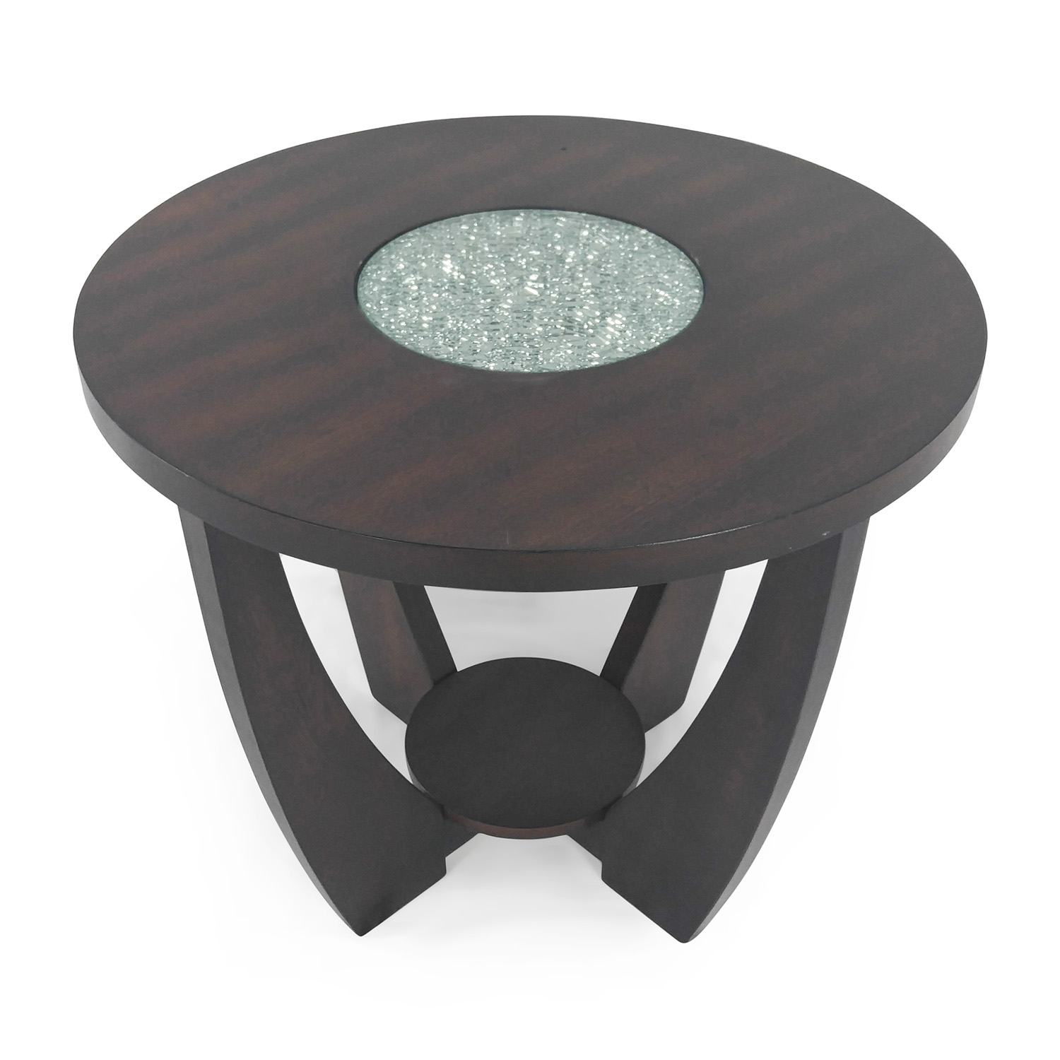 shop Wood and Glass End Table Unknown Brand