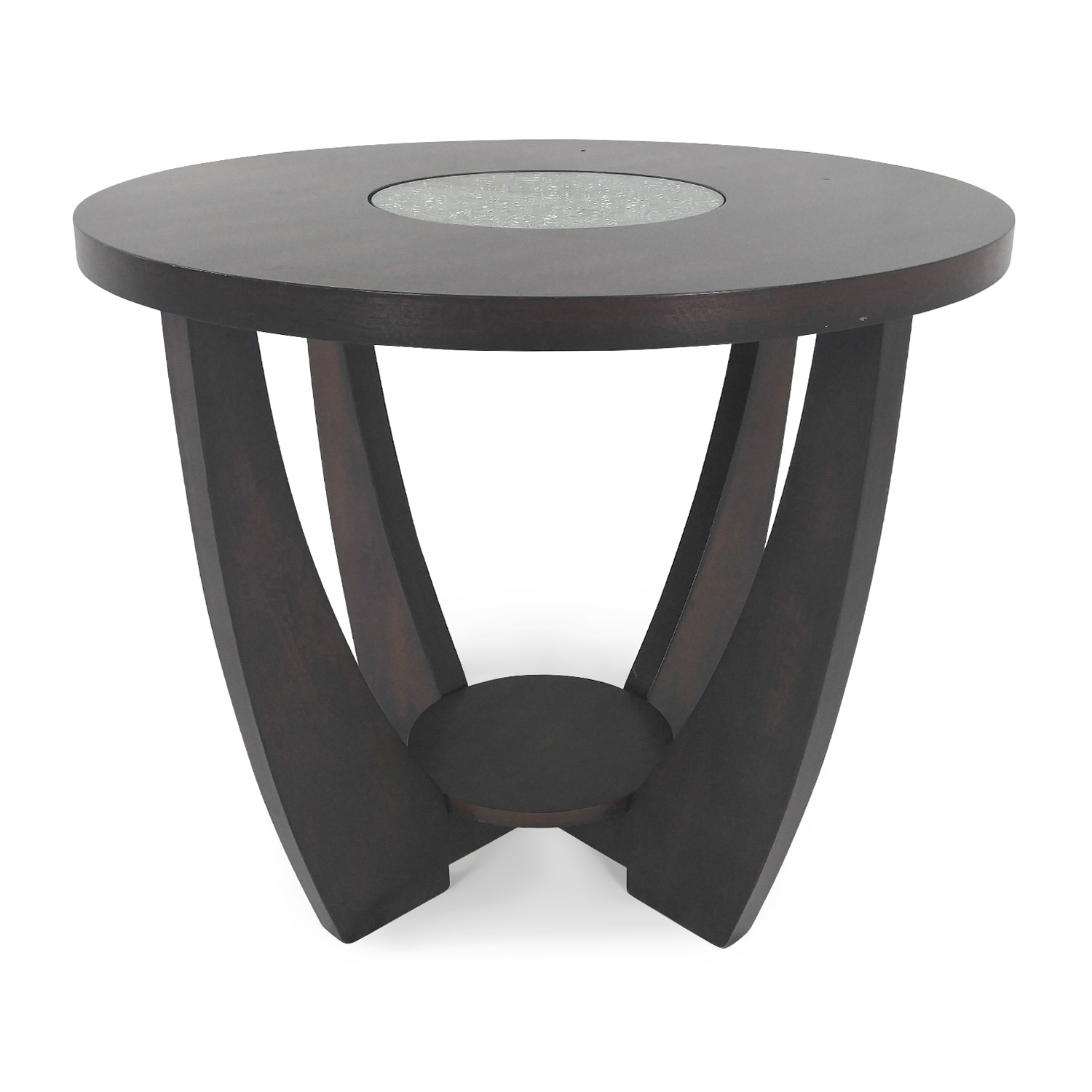 Unknown Brand Wood and Glass End Table discount