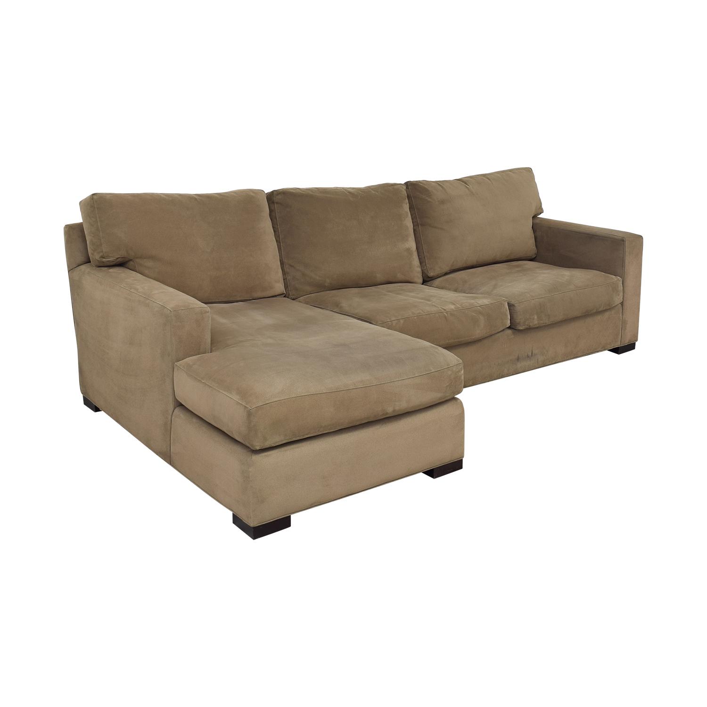 shop Crate & Barrel Axis II Sectional Sofa Crate & Barrel Sofas