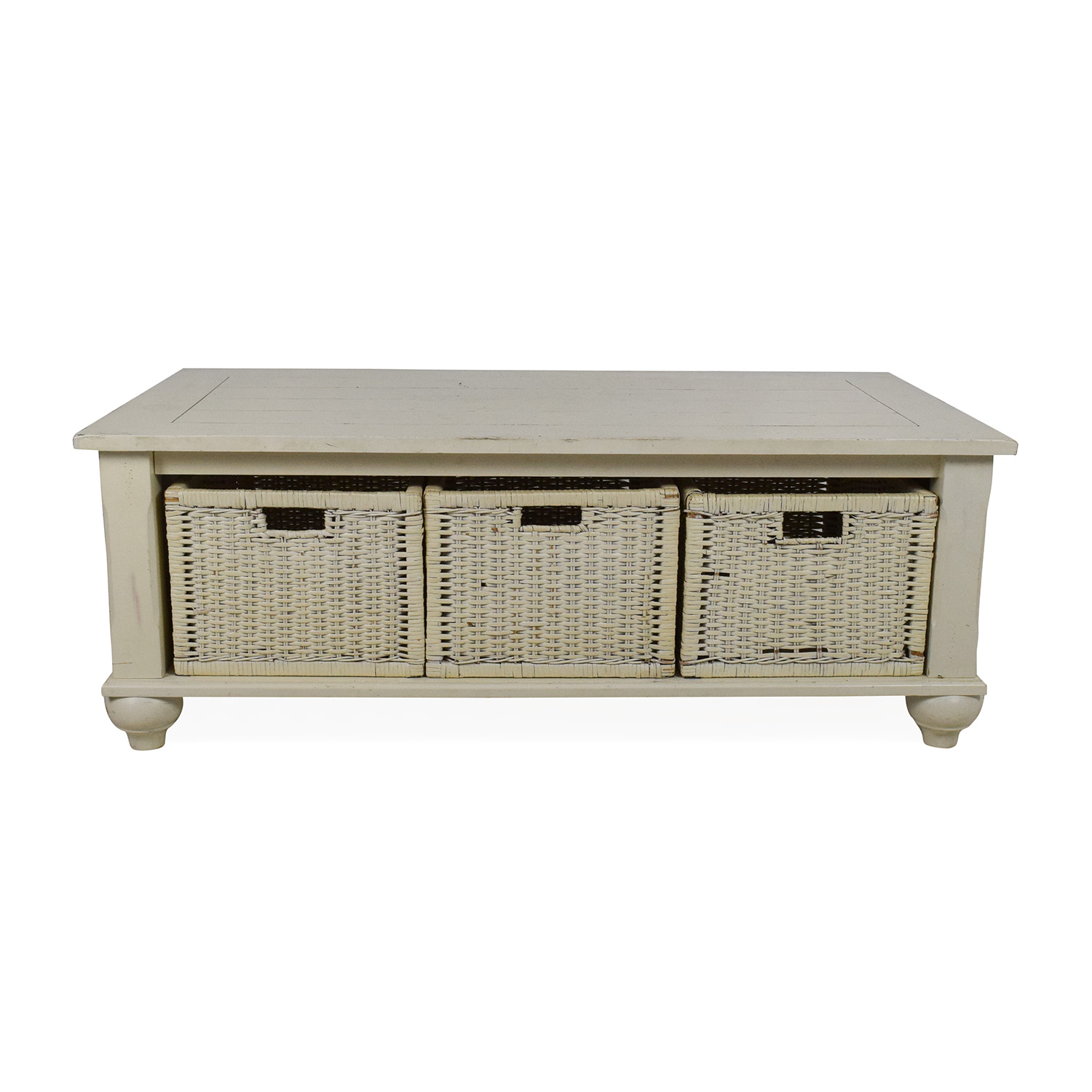 Klaussner Furniture Klaussner Furniture Treasures White Coffee Table Off-White