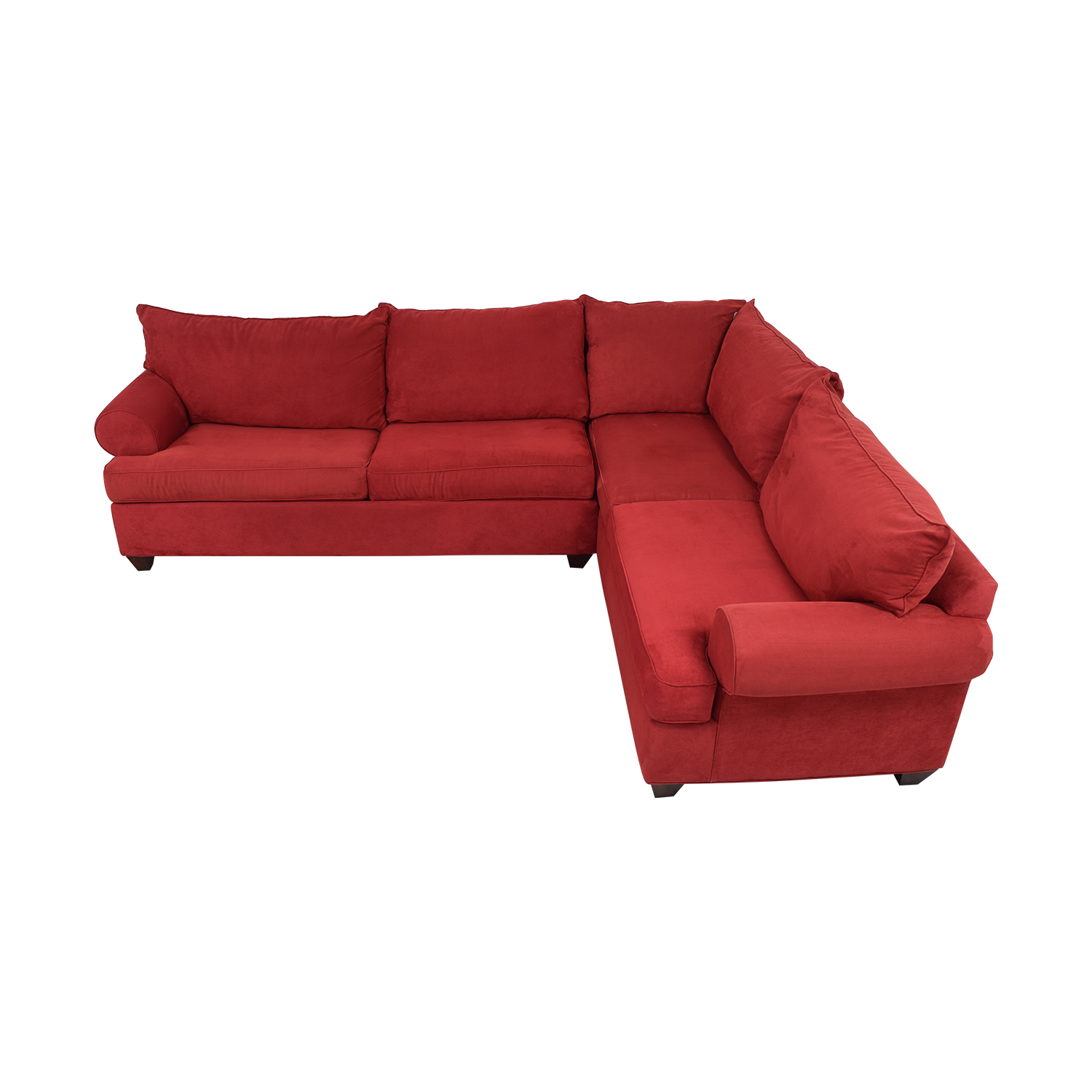 Raymour & Flanigan Raymour & Flanigan Sleeper Sectional Sofa red