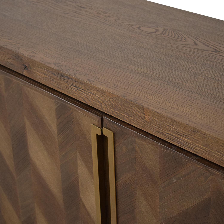 ABC Carpet & Home ABC Carpet & Home Chevron Sideboard Storage
